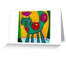THE  LOVE  CAT  Greeting Card