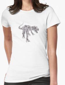 Steampunk T-Rex Womens Fitted T-Shirt