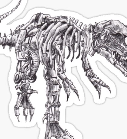 Steampunk T-Rex Sticker