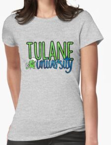 Tulane Two Tone w/ Riptide Womens Fitted T-Shirt