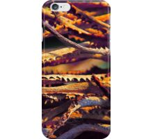 Colourful palm leaves background  iPhone Case/Skin