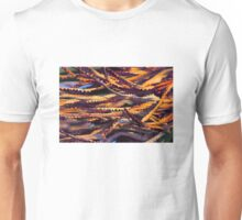 Colourful palm leaves background  Unisex T-Shirt