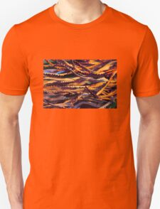 Colourful palm leaves background  T-Shirt