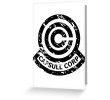 Capsule Corporation Classic Black Vintage Logo (Dragonball Z) Greeting Card