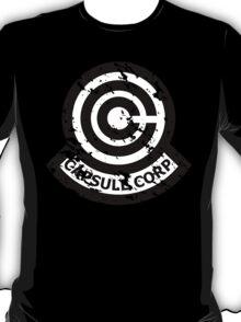 Capsule Corporation Classic Black Vintage Logo (Dragonball Z) T-Shirt