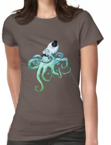 Monocle Octopus Womens Fitted T-Shirt