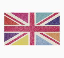 Pink Union Jack Baby Tee