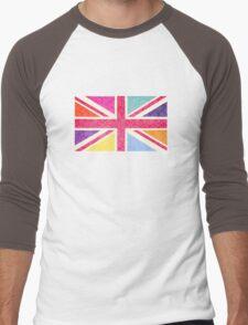 Pink Union Jack Men's Baseball ¾ T-Shirt