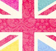 Pink Union Jack Sticker