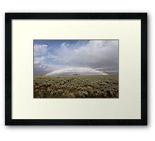 Double Rainbow Framed Print