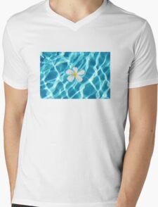 Frangipani flower in the swimming pool Mens V-Neck T-Shirt