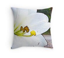 November lily - fractalius Throw Pillow