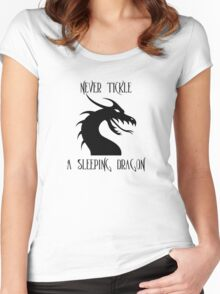 Tickle A Dragon Women's Fitted Scoop T-Shirt