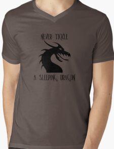 Tickle A Dragon Mens V-Neck T-Shirt
