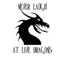Laugh at Dragons Photographic Print