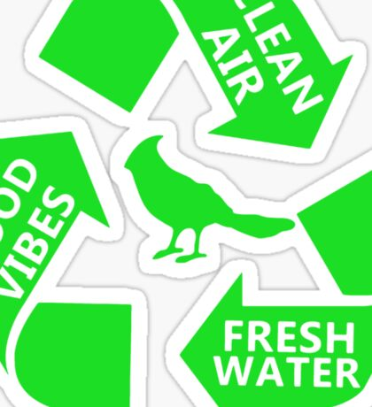 Portlandia Recycling Sticker