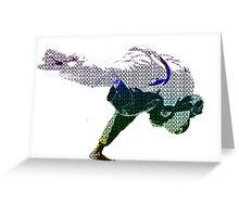 Judo Throw in Gi 2 Multicolour  Greeting Card