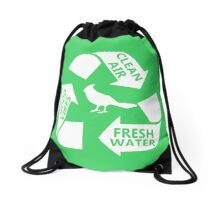 Portlandia Recycling Drawstring Bag