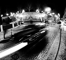 Night Cityscape Cars and lights - Italy by Francesco Malpensi