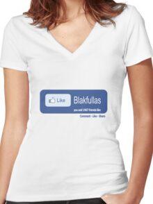 Like Blakfullas [-0-] Women's Fitted V-Neck T-Shirt