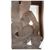 psyche revived by cupid's kiss illuminated Poster