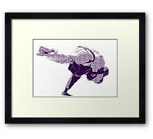 Judo Throw in Gi 2 Purple  Framed Print
