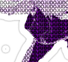Judo Throw in Gi 2 Purple  Sticker