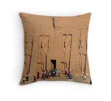 Temple of Hathor at Abu Simbel Throw Pillow