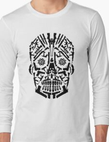 Gun Skull Long Sleeve T-Shirt