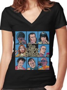 The Pulpy Brunch Women's Fitted V-Neck T-Shirt