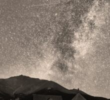 St Malo Miky Way Perseid Meteor Shower BW Sepia Sticker