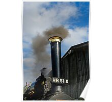 Steam traction engine Poster