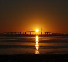 Sunrise over the Sunshine Skyway Bridge by sknodle