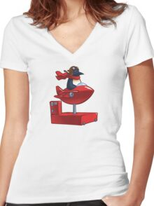 Insert Coin Women's Fitted V-Neck T-Shirt