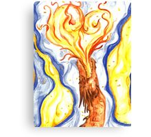 Burning Love Canvas Print