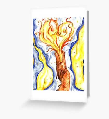 Burning Love Greeting Card