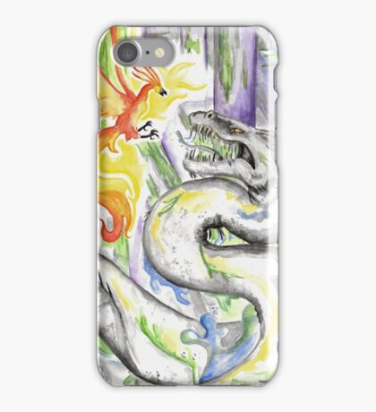 Fawkes and the Basilisk iPhone Case/Skin