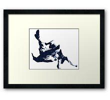 Judo Throw in Gi 3 Blue  Framed Print