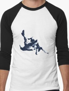 Judo Throw in Gi 3 Blue  Men's Baseball ¾ T-Shirt