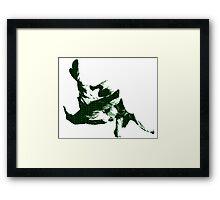 Judo Throw in Gi 3 green Framed Print