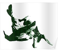 Judo Throw in Gi 3 green Poster