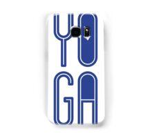YOGA - Blue on White Samsung Galaxy Case/Skin