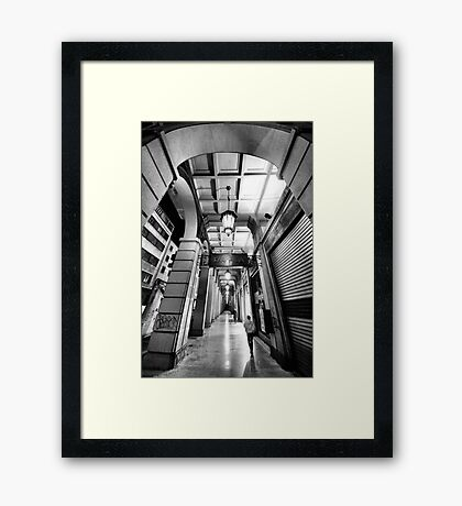 Night walking on the city street Framed Print