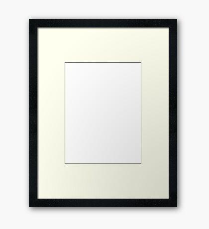 YOGA - White on Blue Framed Print
