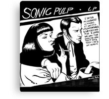 Sonic Pulp: Goo Fiction Canvas Print