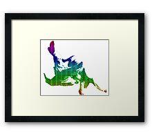 Judo Throw in Gi 3 multicolour  Framed Print