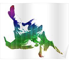 Judo Throw in Gi 3 multicolour  Poster