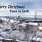 South Queensferry in the Snow - Christmas Card by Tom Gomez