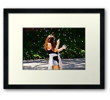 Assaulted by Bubbles Framed Print