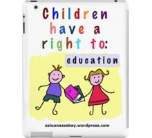 Child rights iPad Case/Skin